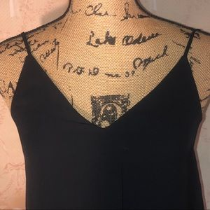 no brand Tops - Black Asymmetrical Stitched Cami